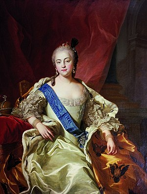 Siege of Kolberg (Seven Years' War) - Image: Carle Vanloo, Portrait de l'impératrice Élisabeth Petrovna (1760)