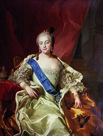 1741 in Russia - Carle Vanloo, Portrait de l'impératrice Élisabeth Petrovna (1760)