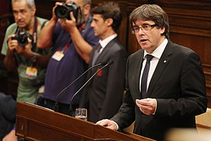Catalan declaration of independence - Carles Puigdemont's address led to mass confusion on whether Catalonia declared independence on 10 October or not