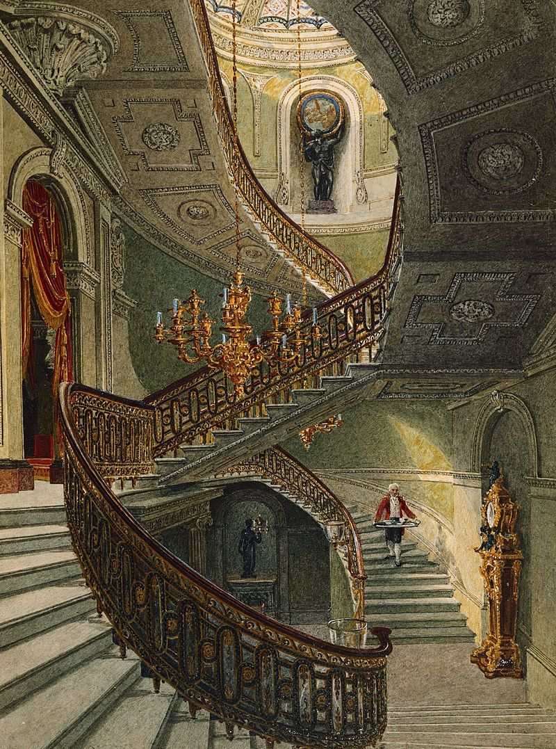 Карлтон - Хаус, Парадная лестница, Чарльз Уайлд, 1819- royal coll 922173 257092 ORI 0.jpg