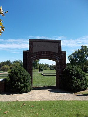 Manassas Industrial School for Colored Youth - Surviving arch from the Carnegie Building