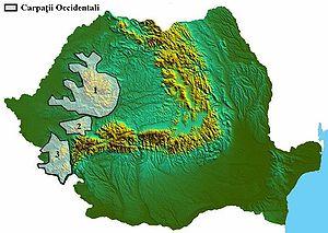 Western Romanian Carpathians - Image: Carpatii occidentali
