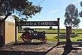 Carrathool Train Station Sign & Traction Engine.JPG