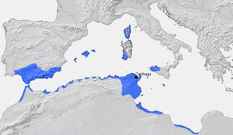 African empires - Ancient Carthage and its dependencies in 264 BC.