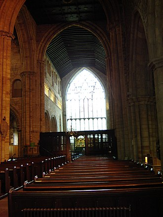 Cartmel Priory - Image: Cartmel Priory, Cartmel, England pews