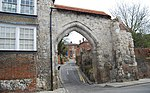 Guildford Castle gateway and walls adjoining to the east and south