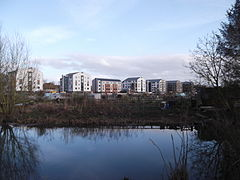 Castle Mill from Castle Mill Stream, Port Meadow, Oxford.JPG