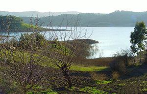 Seyhan River - Reservoir of Seyhan River Dam