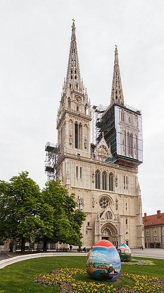Zagreb Cathedral - Image: Catedral de Zagreb, Croacia, 2014 04 20, DD 35