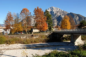 Cavazzo Carnico - Cjavàç and Mount Amariana in the back