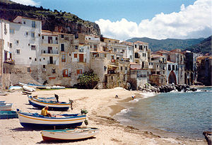 Cefalu Sicilia, the beach