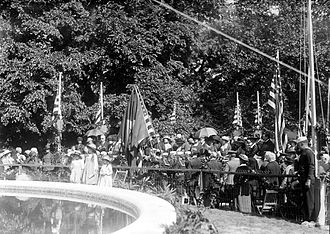 Dupont Circle Fountain - The dedication ceremony in 1921.