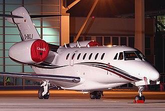 Cessna Citation X - The area ruled fuselage