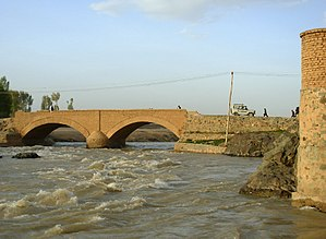 A bridge in Chaghcharan crossing the Hari Rud river
