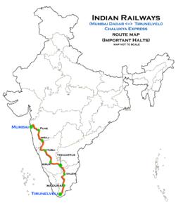 Dadar Central - Tirunelveli Chalukya Express - Wikipedia