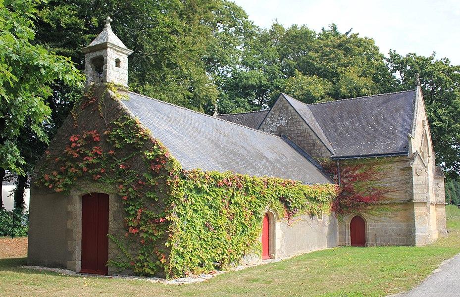 Chapelle Notre-Dame-de-Trescoët: vue principale depuis le sud-ouest