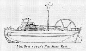 Steamboat - Charlotte Dundas, built by William Symington.