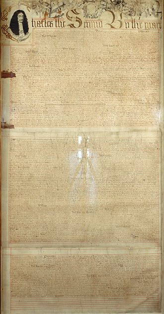 Nationality law in the American Colonies - The Royal Charter of Connecticut, 1662.