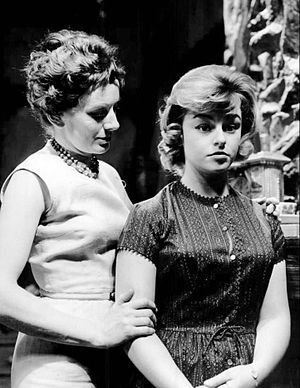 Patty McCormack - Patty McCormack (right) in 1962. She is seen here in the soap opera Young Doctor Malone