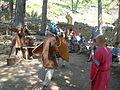 Chateaux lastours camp medieval combat.JPG