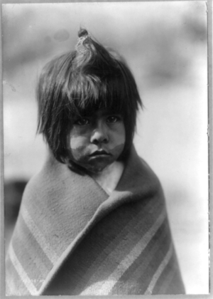 Chemehuevi boy, Arizona. Indian boy, half-leng...