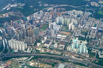 Cheung Sha Wan - Aerial view of Cheung Sha Wan