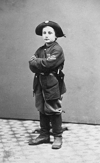 History of children in the military - Drummer boy John Clem during the American Civil War.