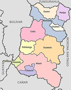 Cantons of Chimborazo Province