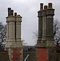 Chimneys - Brocklesby Station - geograph.org.uk - 1638882.jpg