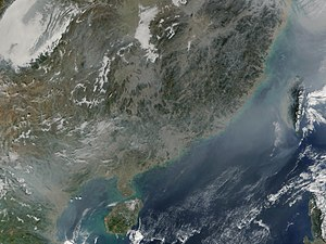 Planetary boundaries - Smog over southern China and Vietnam