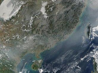 Planetary boundaries - Smog over southern China and Vietnam