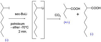 Carbanion - optically active organolithium