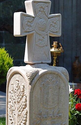 Kakutsa Cholokashvili - Kakutsa Cholokashvili's gravestone in Tbilisi