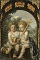 Christelijke allegorie met twee kinderen met een kruis en een kelk Rijksmuseum SK-A-1211.jpeg