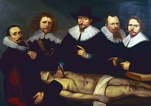 Christiaan Coevershoff - Anatomy lesson of Dr. Zacheus de Jager, 1640