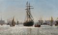 Christian Blache - Indsejlingen til Københavns Havn - 1886.png