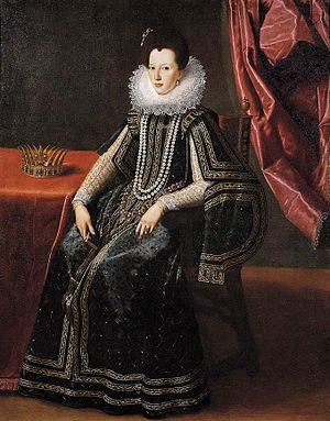 Letter to the Grand Duchess Christina - Tiberio Titi - Portrait of Christine of Lorraine Medici, 1600