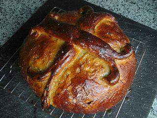 Tsoureki sweet holiday bread
