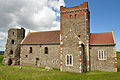 Church and lighthouse in Dover Castle 1.jpg