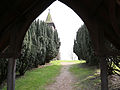 Church of St Thomas, Upshire, Essex, England - from lychgate to churchyard.jpg