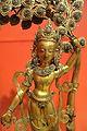 Cinatamani Lokesvara with a kaprabrikshya (wish-fulfilling tree), view 2, Nepal, 19th century, gilt bronze, semiprecious stones - Berkeley Art Museum and Pacific Film Archive - DSC04012.JPG