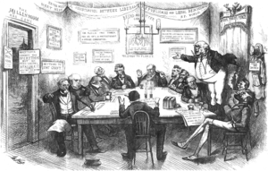 Liberal Republican Party (United States) - Thomas Nast's caricature of the Cincinnati Convention from Harper's Weekly, April 13, 1872.