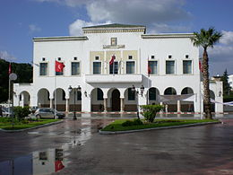 Balai Kota Bizerte City Hall di area jalan Belgique