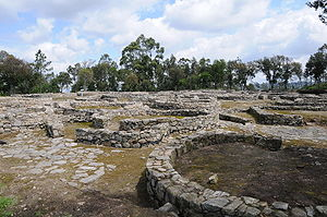 Cividade de Terroso - Present day ruins of Cividade. The city's fall was the basis of the book Uma Deusa na Bruma (A Goddess in the Mist) by João Aguiar.