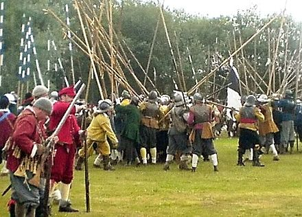 Modern reenactment of English Civil War battle Civil war reeanactment.JPG