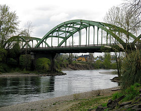 La rivière Clackamas à Oregon City.
