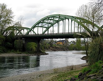 Clackamas River - Clackamas River Bridge at Oregon City