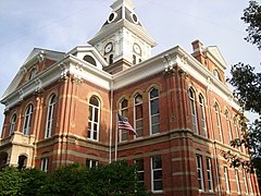 The courthouse in Clarinda is on the NRHP.
