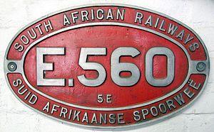 South African Class 5E, Series 3 - Image: Class 5E no. E560 ID