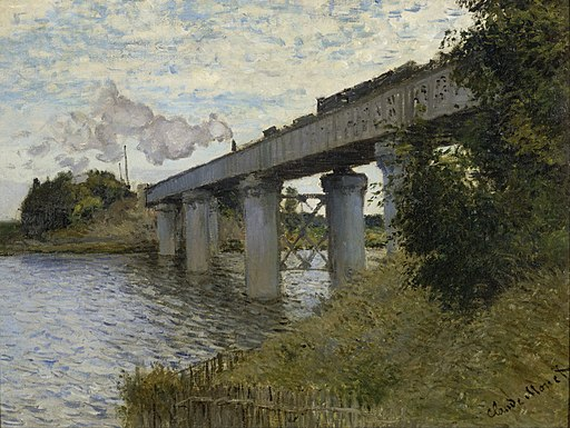 Claude Monet - The Railroad bridge in Argenteuil - Google Art Project